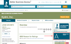 What To Look For In A BBB Listing